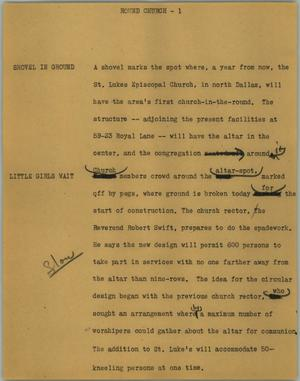 Primary view of object titled '[News Script: Blast victim]'.