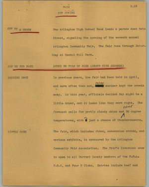 Primary view of object titled '[News Script: Fair]'.