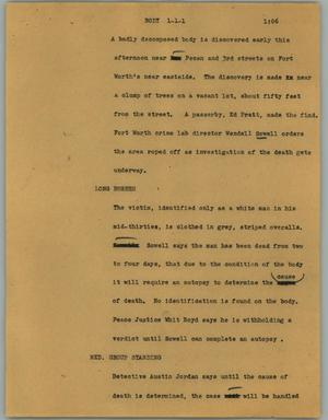 Primary view of object titled '[News Script: Body]'.