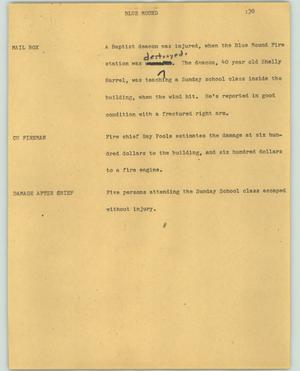 Primary view of object titled '[News Script: Blue mound]'.