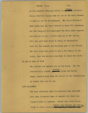 Primary view of object titled '[News Script: Series]'.