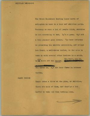 Primary view of object titled '[News Script: Skittles]'.