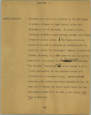 Primary view of object titled '[News Script: Maverick]'.