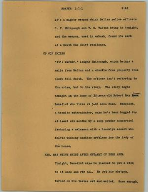Primary view of object titled '[News Script: Soaper]'.