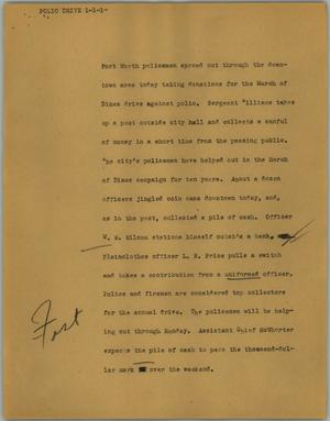 Primary view of object titled '[News Script: Polio drive]'.