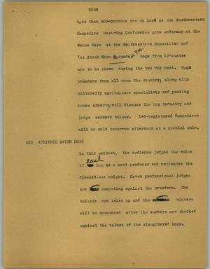 Primary view of object titled '[News Script: Hogs]'.