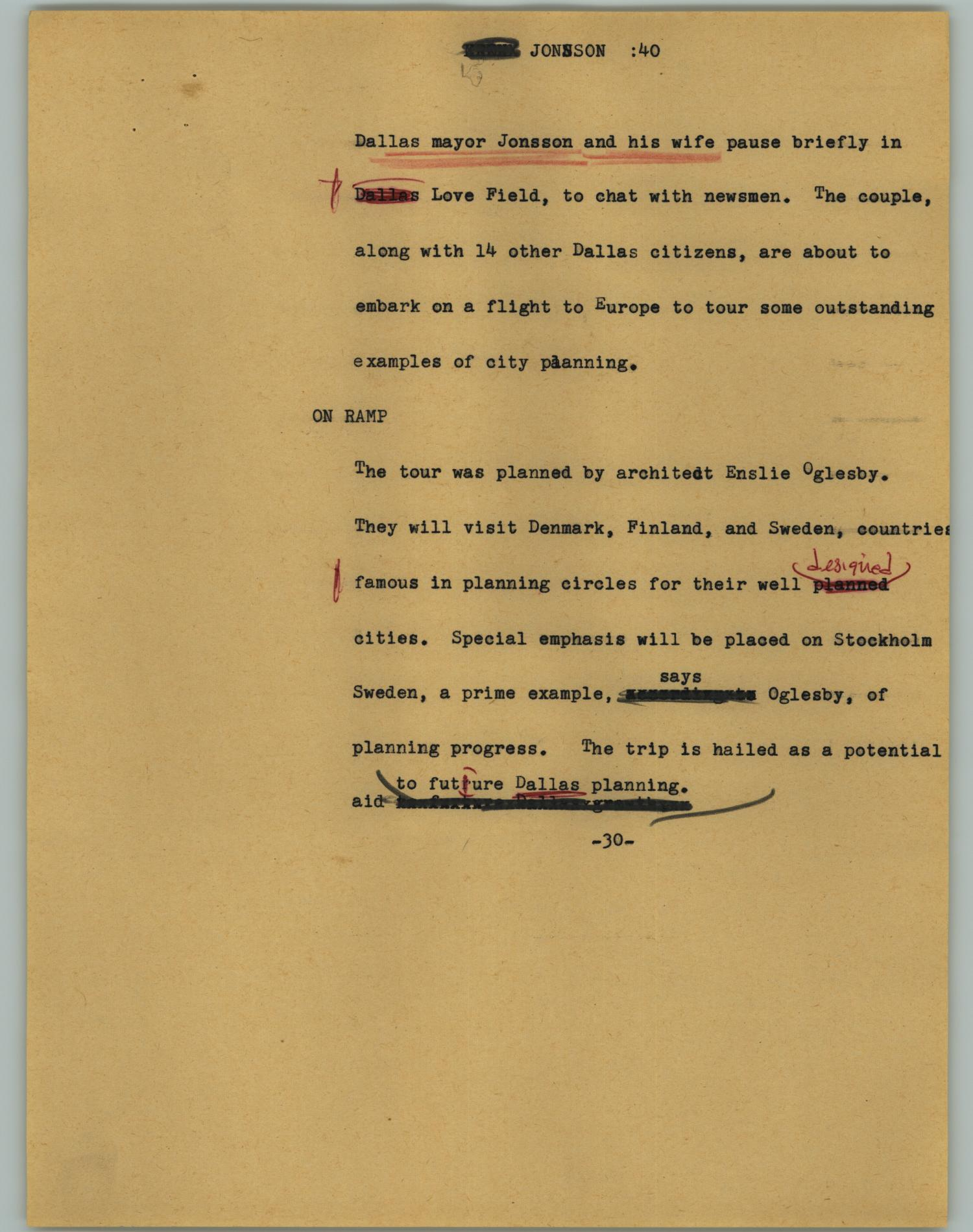[News Script: Jonsson]                                                                                                      [Sequence #]: 1 of 2