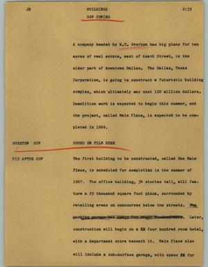 Primary view of object titled '[News Script: Buildings]'.