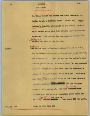 Primary view of object titled '[News Script: Jackson]'.