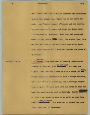 Primary view of object titled '[News Script: Courthouse]'.