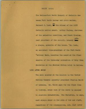 Primary view of object titled '[News Script: Malik]'.