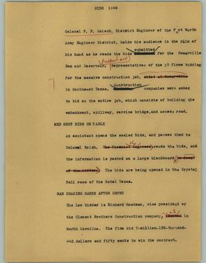 Primary view of object titled '[News Script: Bids]'.