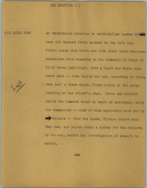 Primary view of object titled '[News Script: Mex shooting]'.