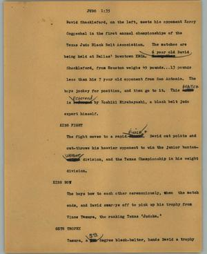 Primary view of object titled '[News Script: Judo]'.