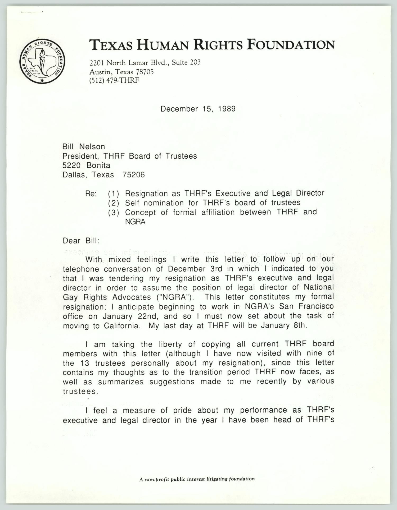 Resignation Letter Board Of Directors Non Profit from texashistory.unt.edu