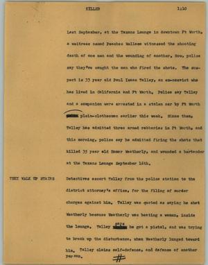 Primary view of [News Script: Killer]