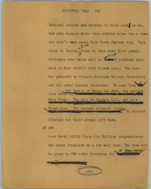 Primary view of object titled '[News Script: Christmas tree]'.