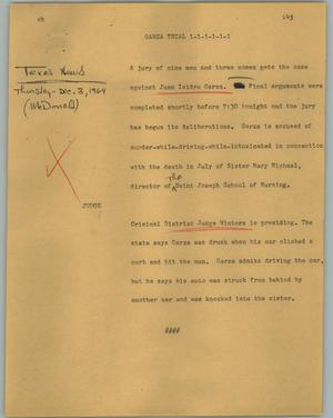 Primary view of object titled '[News Script: Garza trial]'.
