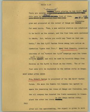 Primary view of object titled '[News Script: Trees]'.