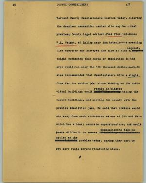 Primary view of object titled '[News Script: County commissioners]'.
