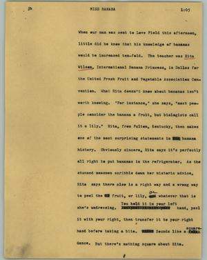 Primary view of object titled '[News Script: Miss Banana]'.