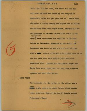 Primary view of object titled '[News Script: Fighting cats]'.