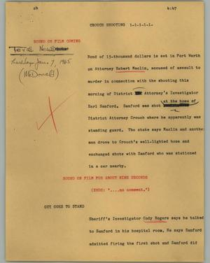 Primary view of object titled '[News Script: Church shooting]'.