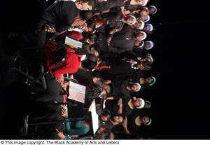Primary view of object titled '[Large Ensemble on Stage]'.