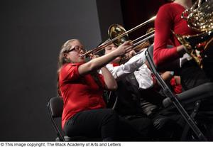 Primary view of object titled '[Trombone Player on Stage]'.