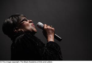 Primary view of object titled '[Singer on Stage]'.