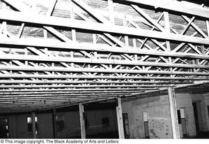 Primary view of object titled '[Unfinished ceiling in Lamar St. Building]'.