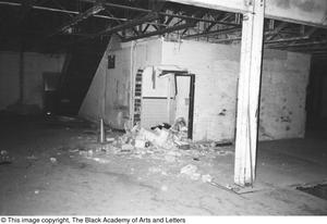 Primary view of object titled '[Unfinished Interior Space in Lamar St. Building]'.