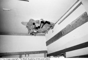 Primary view of object titled '[Ceiling Damage in Lamar St. Facility]'.