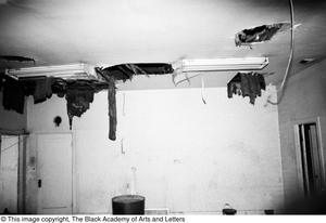 Primary view of object titled '[Damage to Ceiling at Location on Lamar St.]'.