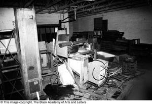 Primary view of object titled 'Interior of Lamar St. Building'.