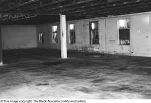 Primary view of object titled '[Empty Interior Space in Lamar St. Building]'.