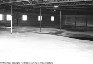 Primary view of object titled '[Interior Space of Lamar St. Building]'.