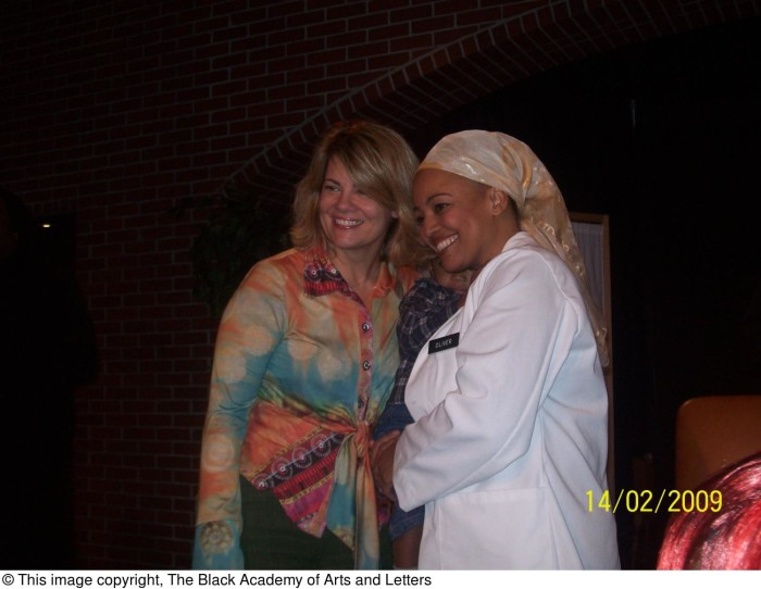 Kim Fields and Unidentified Woman] - The Portal to Texas History