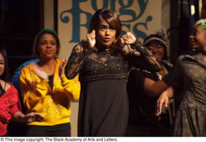 Primary view of object titled '[Jennifer Holliday on Stage with Performers]'.