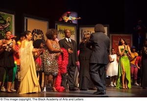 Primary view of [Curtis King on Stage with Performers]
