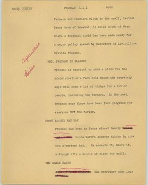 Primary view of object titled '[News Script: Freeman]'.