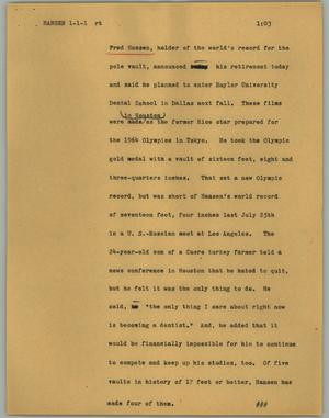 Primary view of object titled '[News Script: Hansen]'.