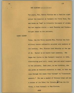 Primary view of object titled '[News Script: Mom Blevins]'.