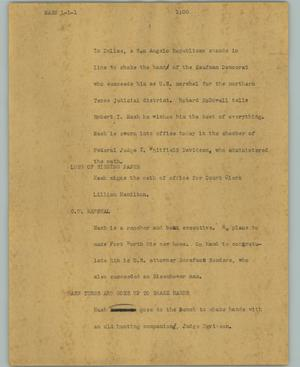 Primary view of object titled '[News Script: Nash]'.