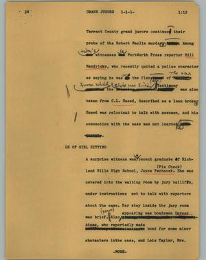 Primary view of object titled '[News Script: Grand jurors]'.