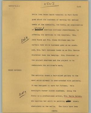 Primary view of object titled '[News Script: Kiwis]'.