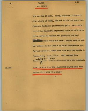 Primary view of object titled '[News Script: Player]'.