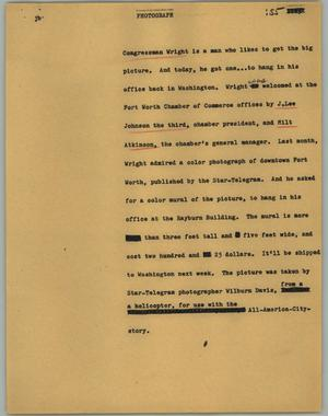 Primary view of object titled '[News Script: Photograph]'.