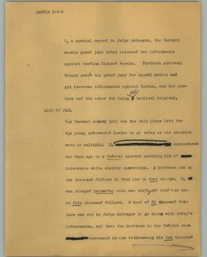 Primary view of object titled '[News Script: Garcia]'.