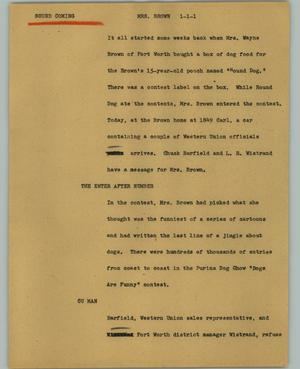 Primary view of object titled '[News Script: Miss Brown]'.